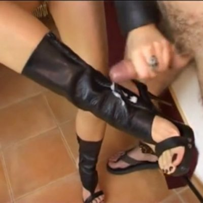 Foot cumshot compilation video