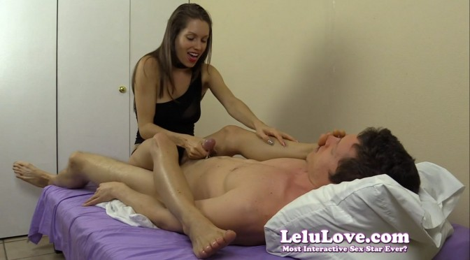 Feet On Face Handjob from Lelu Love